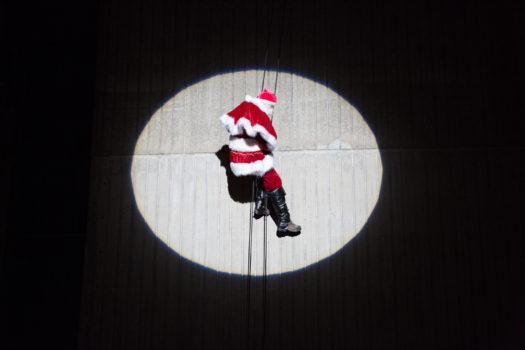 Abseiling Santa